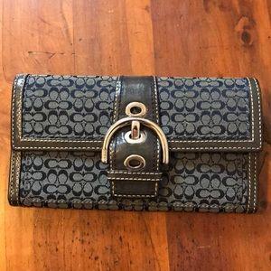 Coach Signature Collection Blue Wallet